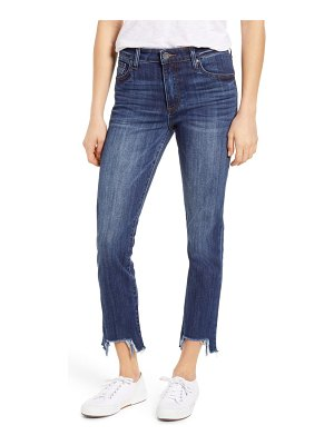 KUT from the Kloth reese high waist frayed step hem ankle straight leg jeans