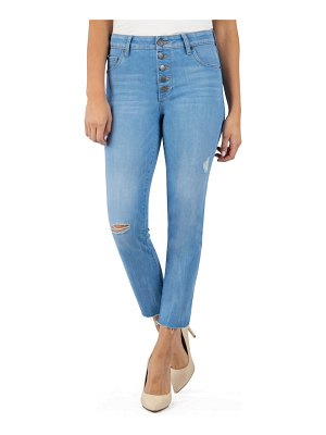 KUT from the Kloth reese ripped high waist ankle straight leg jeans