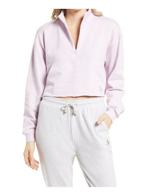 KUWALLA french terry half zip pullover