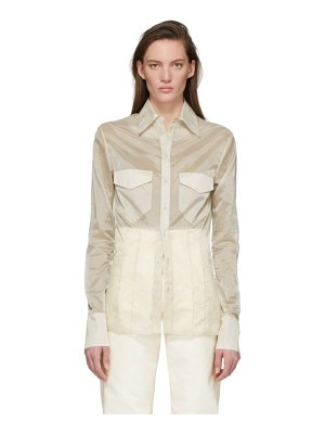 Kwaidan Editions beige ultra light slim shirt