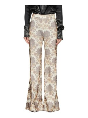 Kwaidan Editions off-white floral trousers