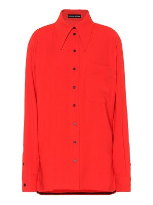 Kwaidan Editions oversized wool-blend shirt