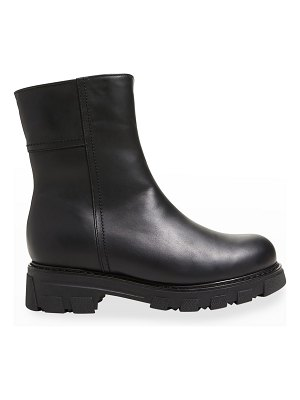 La Canadienne Autumn Leather Shearling-Lined Moto Booties