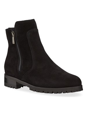 La Canadienne Smith Suede Dual Zip Ankle Booties