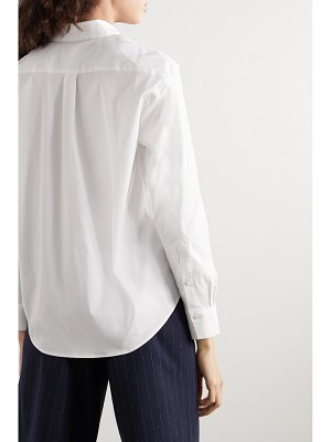 La Collection emilia cotton-blend poplin shirt
