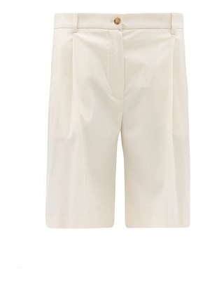 La Collection pleated wool-blend bermuda shorts