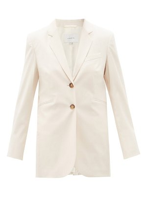 La Collection valentina single-breasted wool-blend jacket