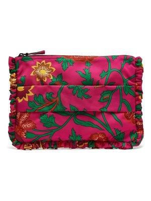 LA DOUBLEJ dragon flower printed clutch