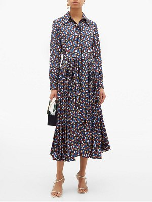 LA DOUBLEJ pinwheel print pleated skirt shirtdress