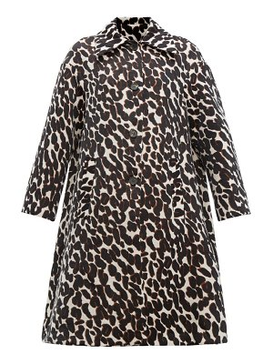 LA DOUBLEJ single breasted leopard jacquard coat