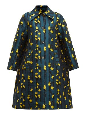 LA DOUBLEJ single breasted splatter jacquard coat