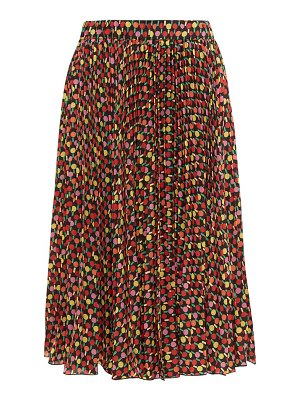 LA DOUBLEJ soleil pleated georgette midi skirt