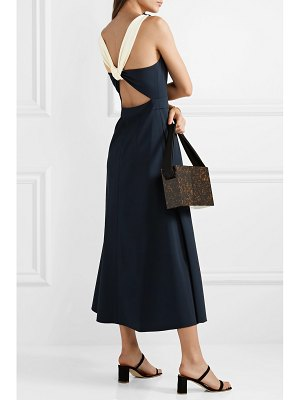 La Ligne bardot cutout crepe midi dress
