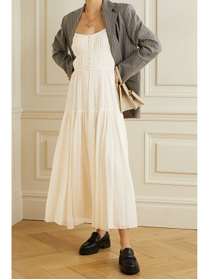 La Ligne pleated silk crepe de chine maxi dress