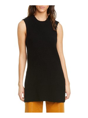 La Ligne ribbed sleeveless cashmere tunic sweater