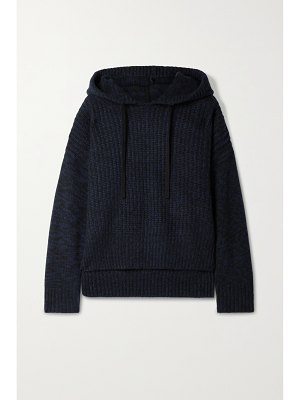La Ligne toujours paneled ribbed cashmere hoodie