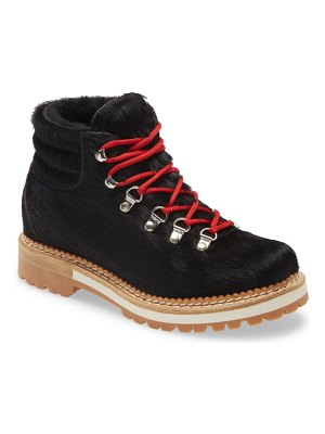 La Montelliana genuine calf hair and shearling boot