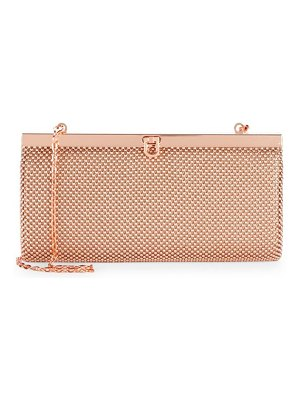 LA REGALE Ball Mesh Convertible Clutch