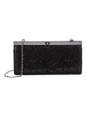 LA REGALE Bejeweled Frame Clutch