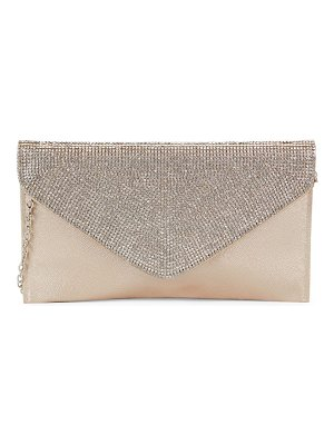 LA REGALE Crystal Flap Clutch