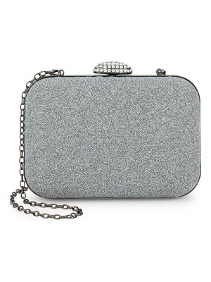 LA REGALE Mesh Push-Lock Clutch