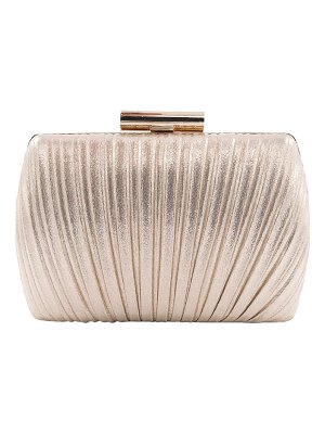 LA REGALE Metallic Fan Pleated Convertible Clutch