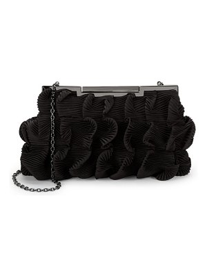 LA REGALE Pleated Ruffle Shoulder Bag