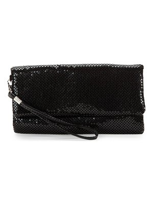 LA REGALE Sequin Foldover Clutch