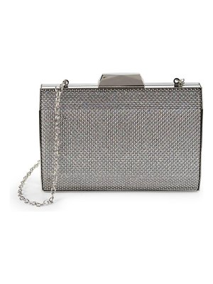 LA REGALE Textured Pryamid Box Clutch