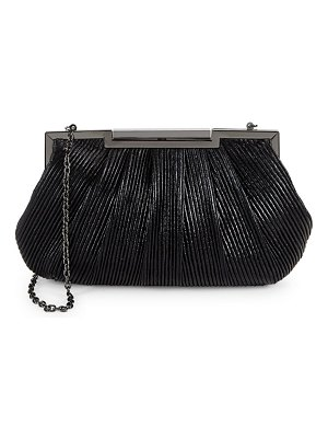 LA REGALE Mini Textured Metallic Clutch