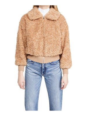 La Vie by Rebecca Taylor curly faux shearling coat