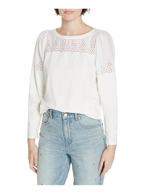 La Vie by Rebecca Taylor embroidered cotton top