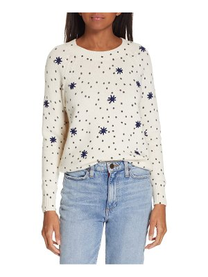 La Vie by Rebecca Taylor embroidered dot wool blend sweater