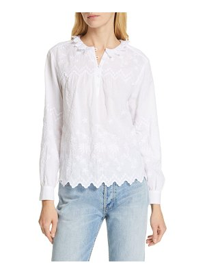 La Vie by Rebecca Taylor embroidered voile top