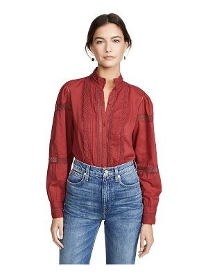 La Vie by Rebecca Taylor long sleeve voile lace top