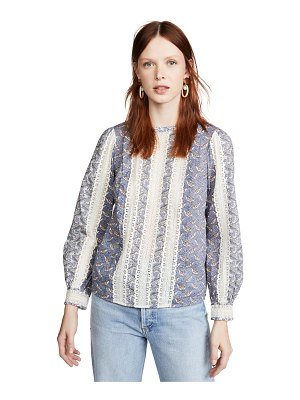 La Vie by Rebecca Taylor long sleeve woodblock lace top