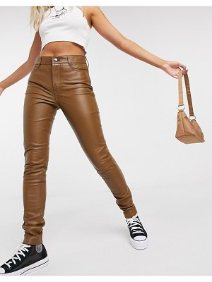 LAB LEATHER real leather pants in brown
