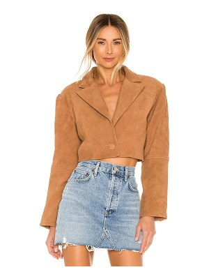 L'Academie ansley cropped leather jacket