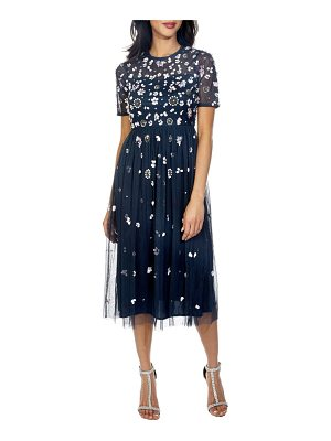 LACE & BEADS baby sequin midi dress