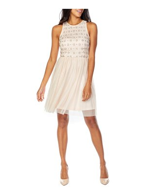 LACE & BEADS mae skater party dress