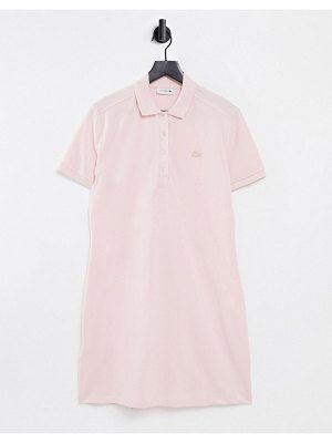 LACOSTE classic polo dress in pink