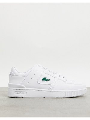 LACOSTE court cage panel sneakers in triple white