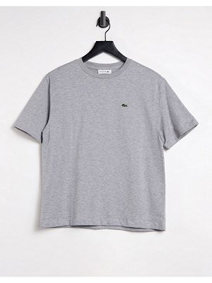 LACOSTE crew cotton tee in gray-grey