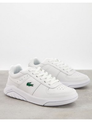 LACOSTE game advance sneakers in triple white