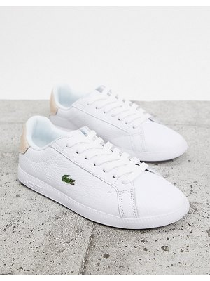 LACOSTE graduate 120 sneakers in white with pink back tab