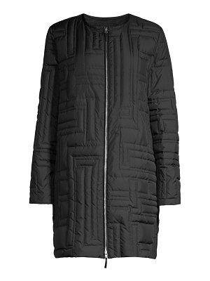 Lafayette 148 New York abdulla geometric quilted mid-length coat