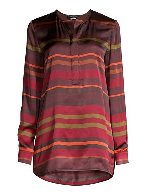 Lafayette 148 New York autumn stripe tunic blouse