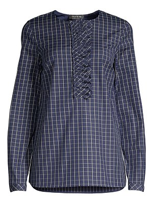 Lafayette 148 New York bradford crosshatch shirt