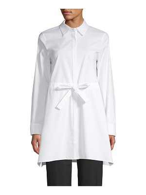 Lafayette 148 New York Button-Front Cotton Blend Tunic