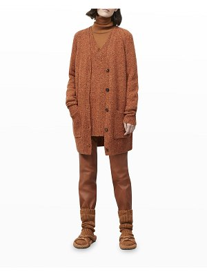 Lafayette 148 New York Button-Front Donegal Cardigan